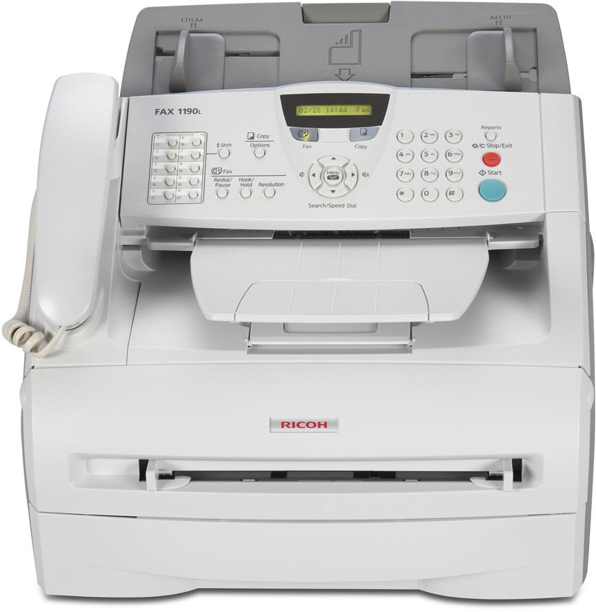 Máy in Ricoh Fax 1190L, Laser trắng đen